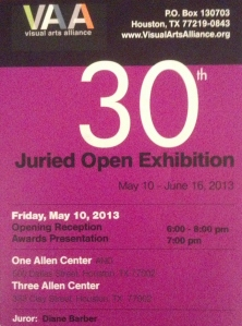 VAA Juried Show Postcard